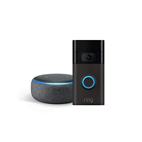 史低价!Ring Video Doorbell 2代 智能门铃 加送Echo Dot