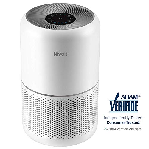 LEVOIT Air Purifier for Home Allergies and Pets Hair Smokers in Bedroom, True HEPA Filter, 24db Filtration System Cleaner Odor Eliminators, Remove 99.97%,Core 300