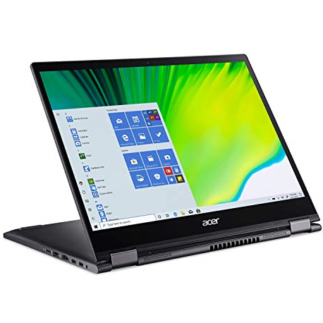 "Acer Spin 5 Convertible Laptop, 13.5"" 2K 2256 x 1504 IPS Touch, 10th Gen Intel Core i7-1065G7, 16GB LPDDR4X, 512GB NVMe SSD, Wi-Fi 6, Backlit KB, FPR,, SP513-54N-74V2"