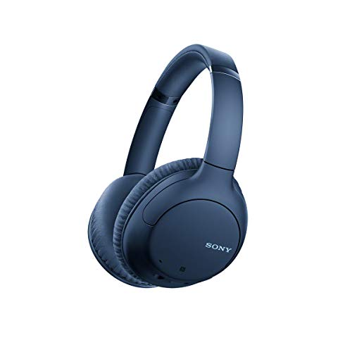Sony Noise Cancelling Headphones WHCH710N: Wireless Bluetooth Over The Ear Headset with Mic for Phone-Call, Blue (Amazon Exclusive) (WHCH710N/L)