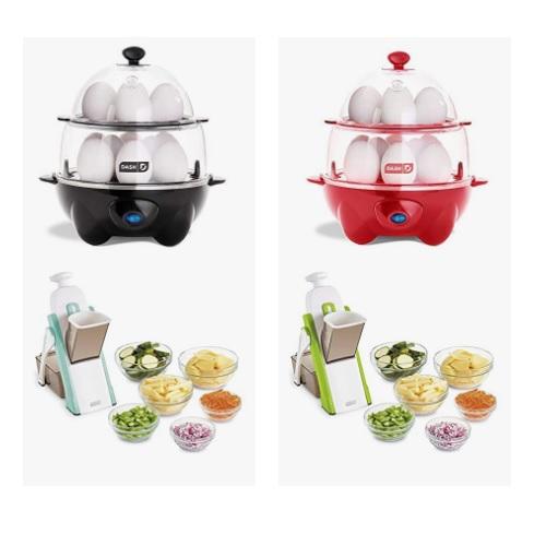 金盒特价!Dash 双层煮蛋器、蔬菜切片器促销!