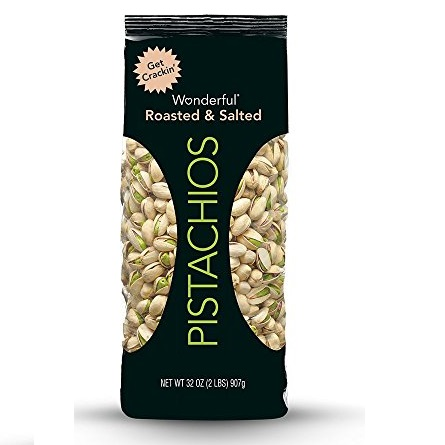Wonderful Pistachios 咸味 味烤开心果,32 oz