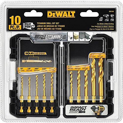 史低价!DEWALT 得伟  钛金属钻头10件套,也可用于冲击钻