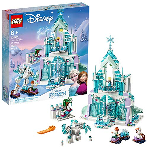 LEGO Disney Princess Elsa's Magical Ice Palace 43172 Toy Castle Building Kit with Mini Dolls, Castle Playset with Popular Frozen Characters including Elsa, Olaf, (701 Pieces)