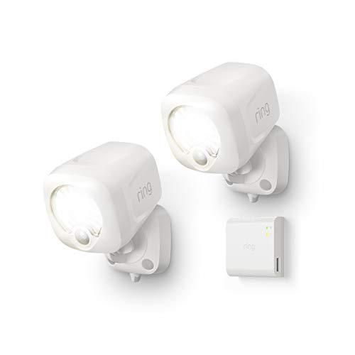 史低价!Ring 智能感应式聚光照明灯2个+Ring Bridge