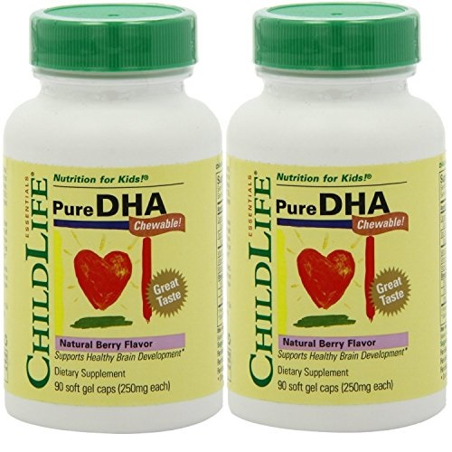 Child Life Pure DHA Dietary Supplement, 90 Soft Gel Capsules (Pack of 2)