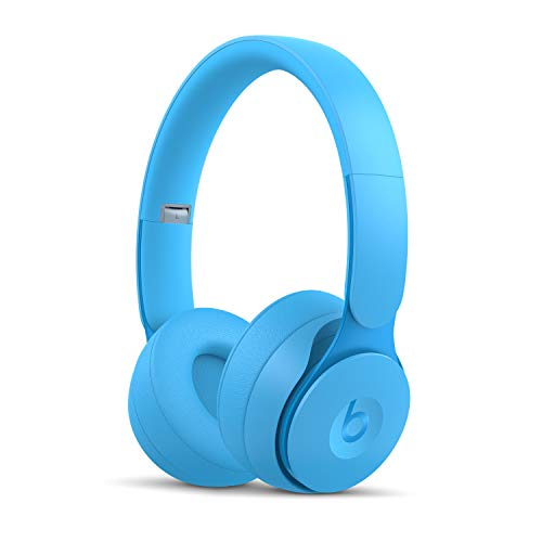 Beats Solo Pro Wireless Noise Cancelling On-Ear Headphones - Apple H1 Headphone Chip, Class 1 Bluetooth, Active Noise Cancelling, Transparency, 22 Hours Of Listening Time - Light Blue