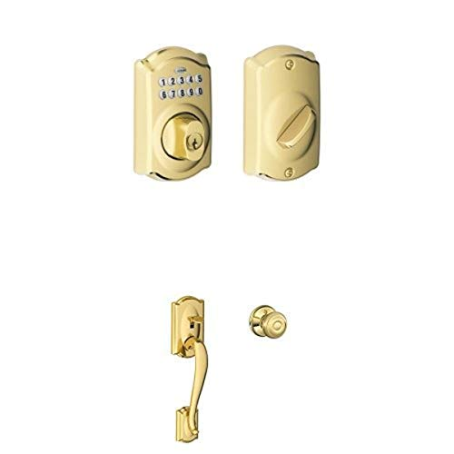 超低价!速抢!Schlage西勒奇BE365 密码自动门锁 + 把手 套装