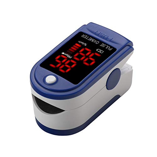 Contec Finger Tip Pulse Oximeter - Blood Oxygen Saturation (SpO2) and Pulse Rate Monitor - Portable LED Display