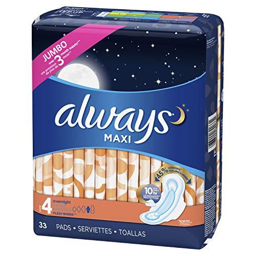 Always Maxi 4号夜用卫生巾,33片