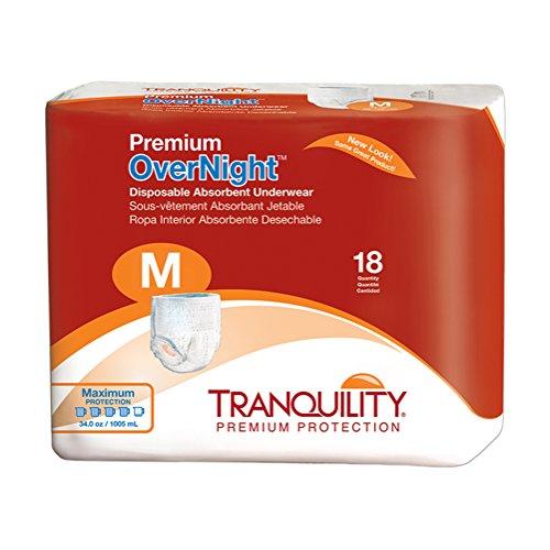 史低价!Tranquility 高级夜用成人纸尿裤,M码,72个装