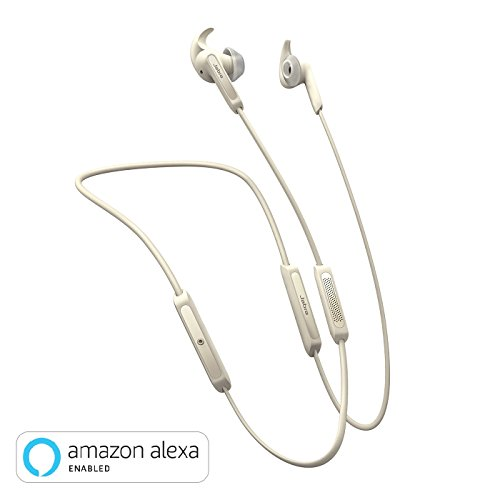 Jabra Elite 45e Wireless Earbuds, Gold Beige – Alexa Enabled, Wireless Bluetooth Earbuds, Around-The-Neck Style with a Secure Fit and Superior Sound for Music Long Battery Life