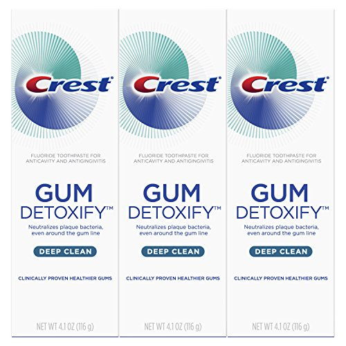 Crest Gum Detoxify Deep Clean Toothpaste, 4.1 oz, Triple pack