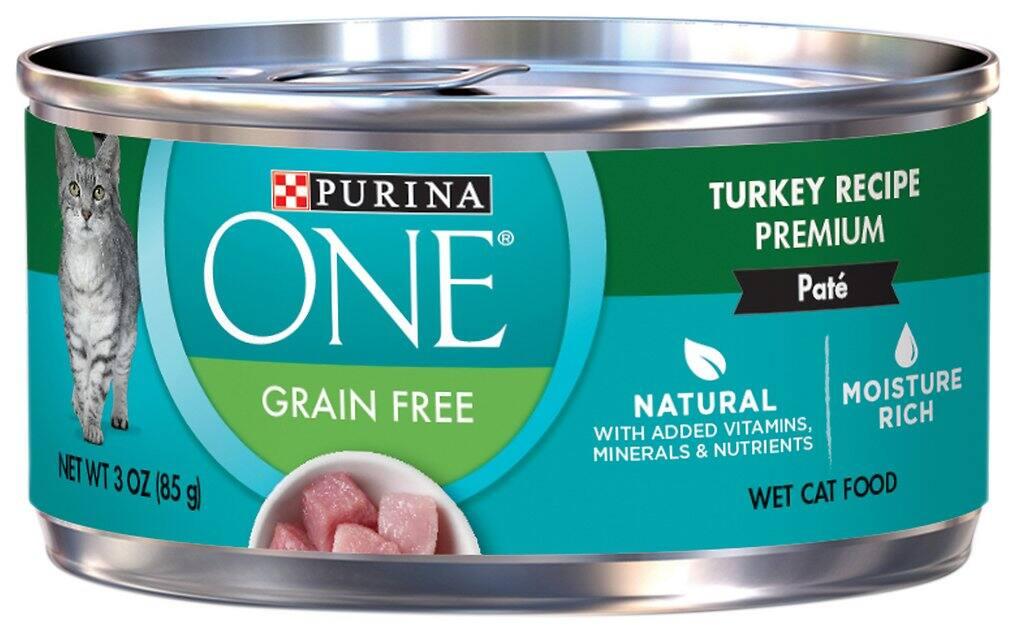 24-Pack 3-oz Purina ONE Turkey Recipe Pate Canned Cat Food