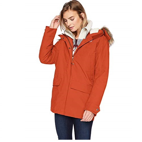 Jack Wolfskin Helsinki Jacket Women's Waterproof Insulated Coat 100% PFC Free, Mexican Pepper, X-Large