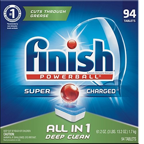 Finish - All in 1 - 94ct - Dishwasher Detergent - Powerball - Dishwashing Tablets - Dish Tabs - Fresh Scentt