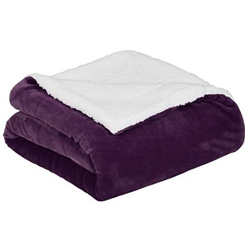 史低价!AmazonBasics 超柔软舒适双面 盖毯/沙发毯