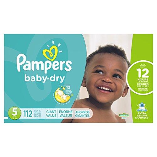 Pampers 帮宝适Baby Dry干爽系列纸尿裤,5段112片