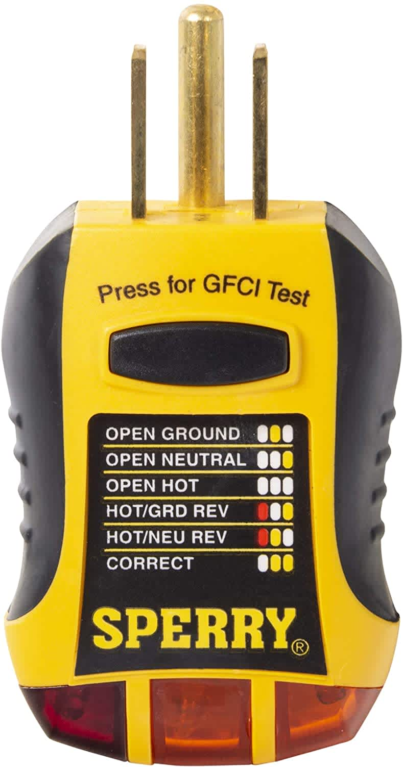 Sperry Instruments GFCI Outlet / Receptacle Tester