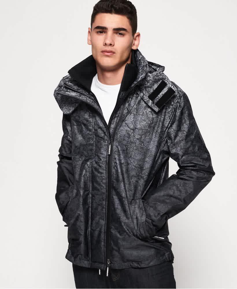 Superdry Men's Hooded Print Pop Zip SD-Windcheater Jacket