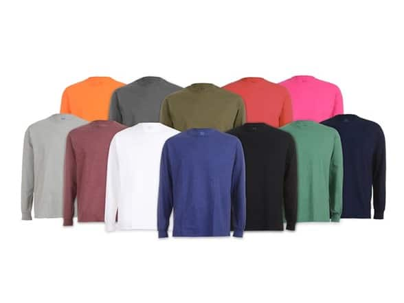 Prime Members: 6-Pk Fruit of the Loom Men's Long Sleeve Tees (Assorted Colors)