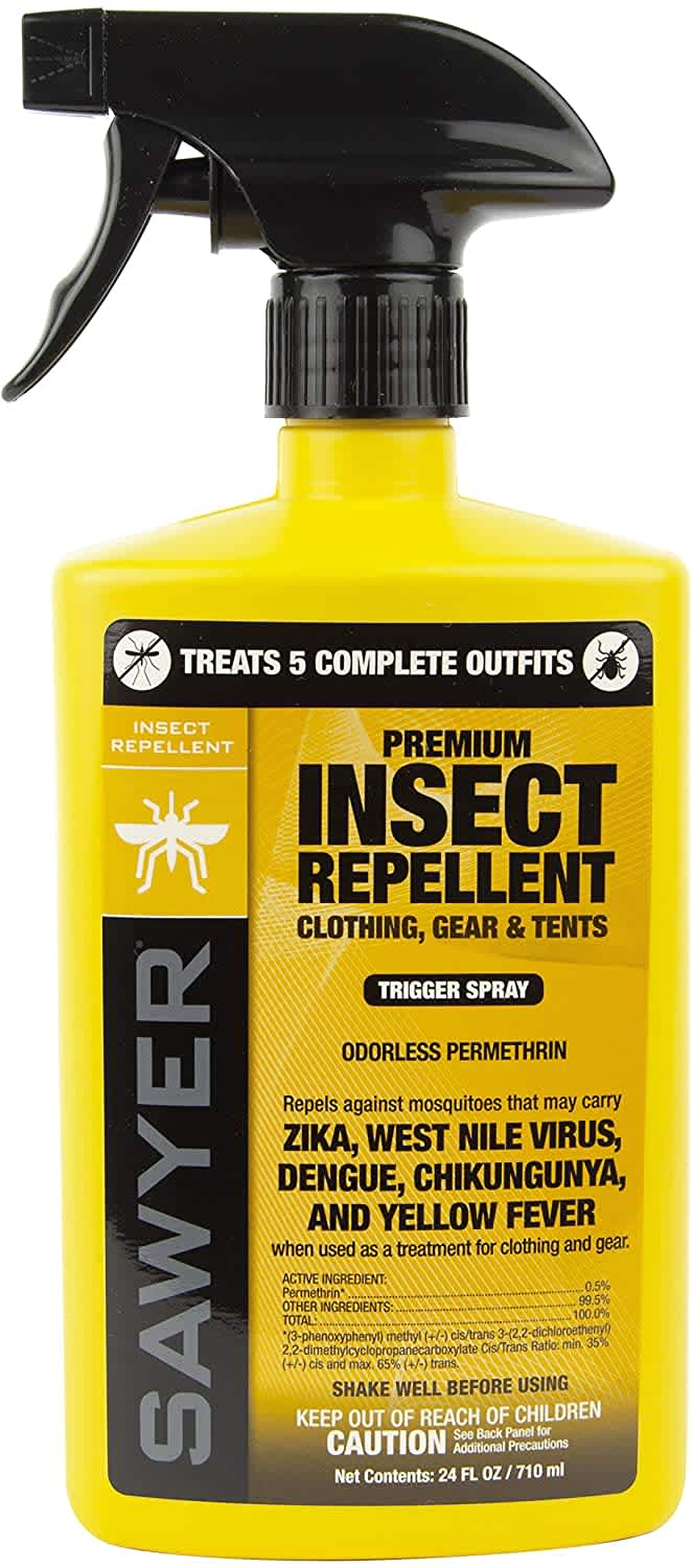 Sawyer Premium Permethrin Insect Repellent for Clothing, Gear, & Tents 24-oz. Bottle
