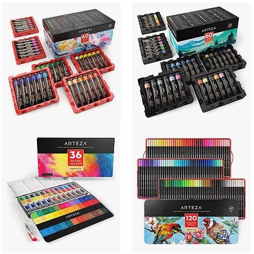 金盒特价!Amazon 精选 Arteza 颜料、彩铅、马克笔等高品质绘画用品大促销!