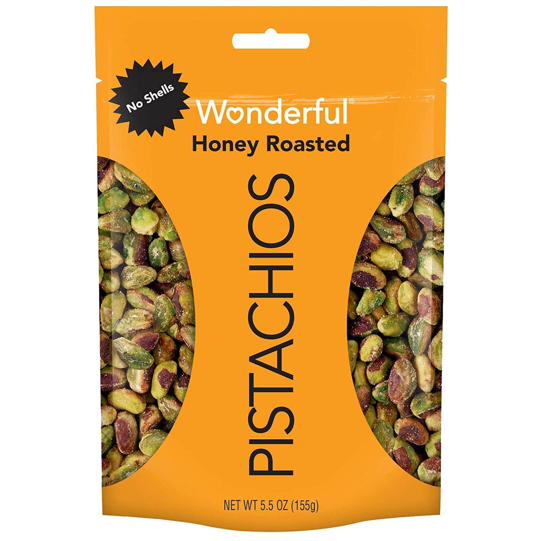 5.5-oz Wonderful Pistachios (No Shells, Honey Roasted)