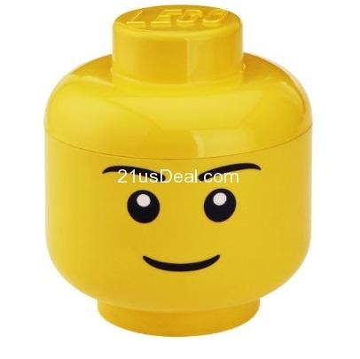 LEGO乐高头形收藏盒,男孩头形
