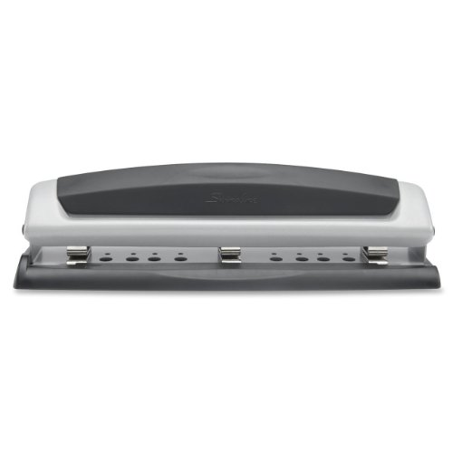 Swingline Desktop Hole Punch, Precision Pro, 2 - 3 Holes, Adjustable Centers, 10 Sheets (74037)