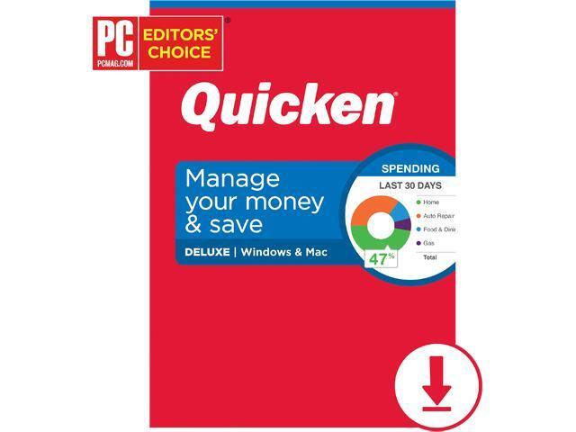 Quicken 2020 Personal Finance Software (PC/Mac Digital): Premier $32, Deluxe