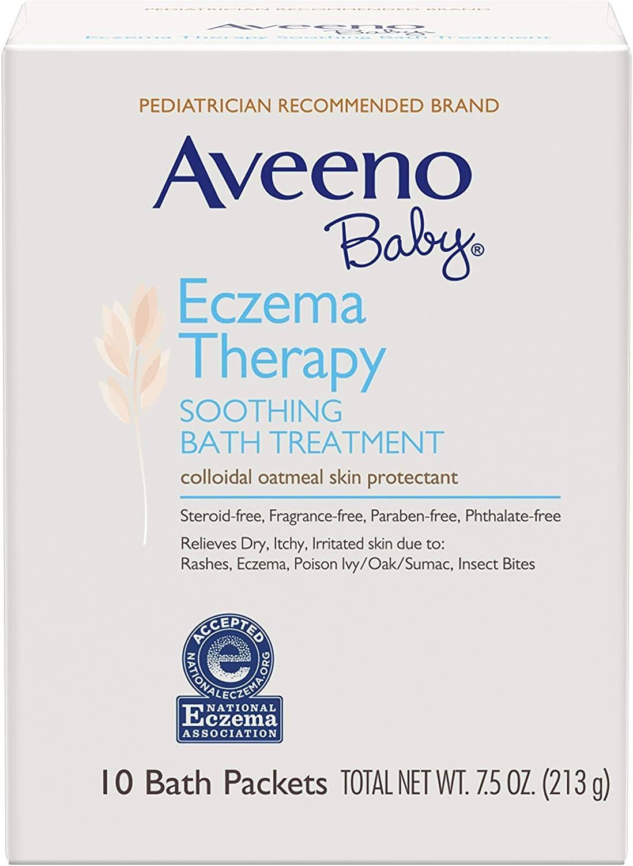 10-Ct Aveeno Baby Eczema Therapy Bath Treatment w/ Natural Colloidal Oatmeal