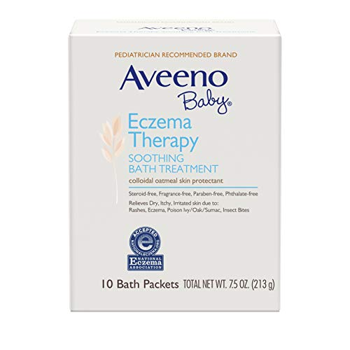 Aveeno Baby Eczema Therapy Soothing Bath Treatment with Natural Colloidal Oatmeal, 10 ct.