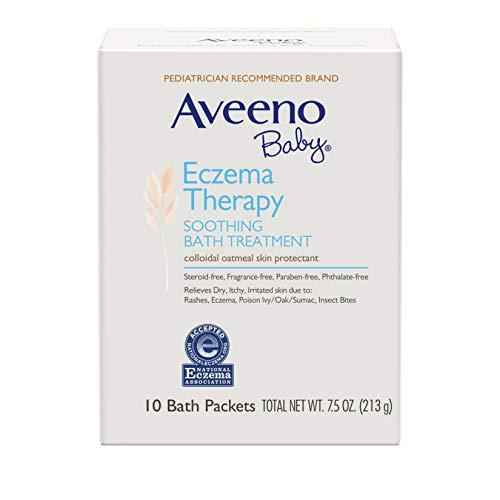 史低价!Aveeno Baby 天然燕麦宝宝治疗型舒缓泡澡粉,10包