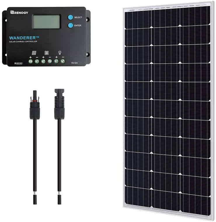 Renogy 100W 12V Monocrystalline Solar Bundle Kit