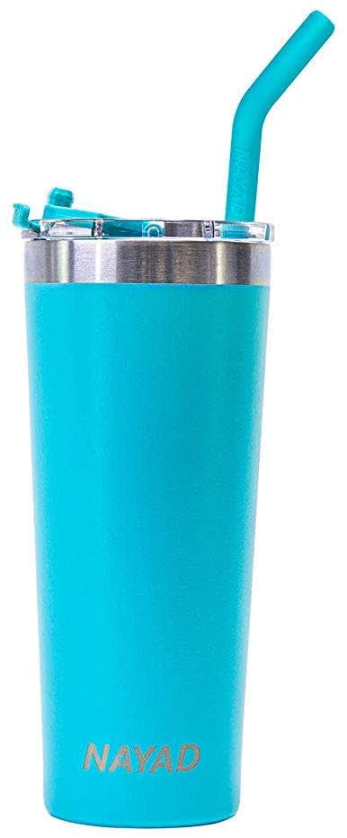 Nayad 22-oz. Stailness Steel Vacuum Insulated Tubler with Straw