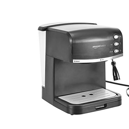 史低价!AmazonBasics咖啡机+奶泡机