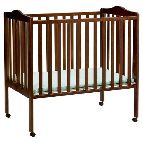 Delta Children 木质婴儿床,带滚轮可折叠