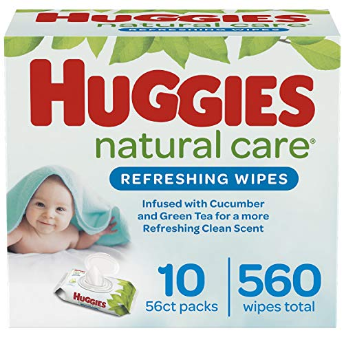Huggies Natural Care Refreshing婴儿湿巾,10包共560抽 点击Coupon后