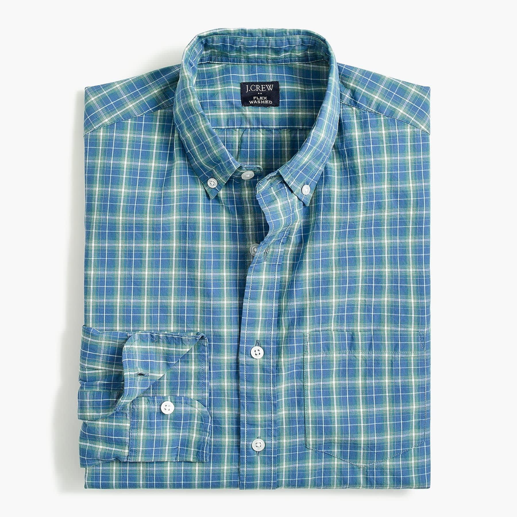 J.Crew Factory Men's Plaid Slim Flex Casual Shirt (S, M only)