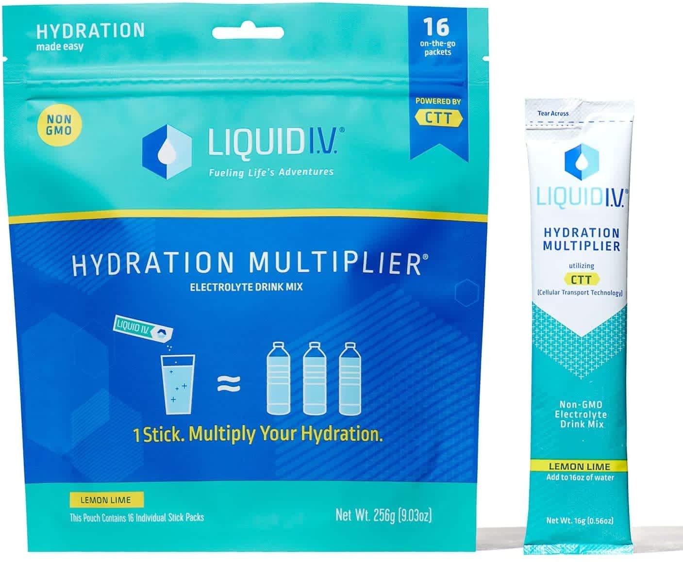 Liquid I.V. Hydration Multiplier Supplement Drink Mixer 16-Count
