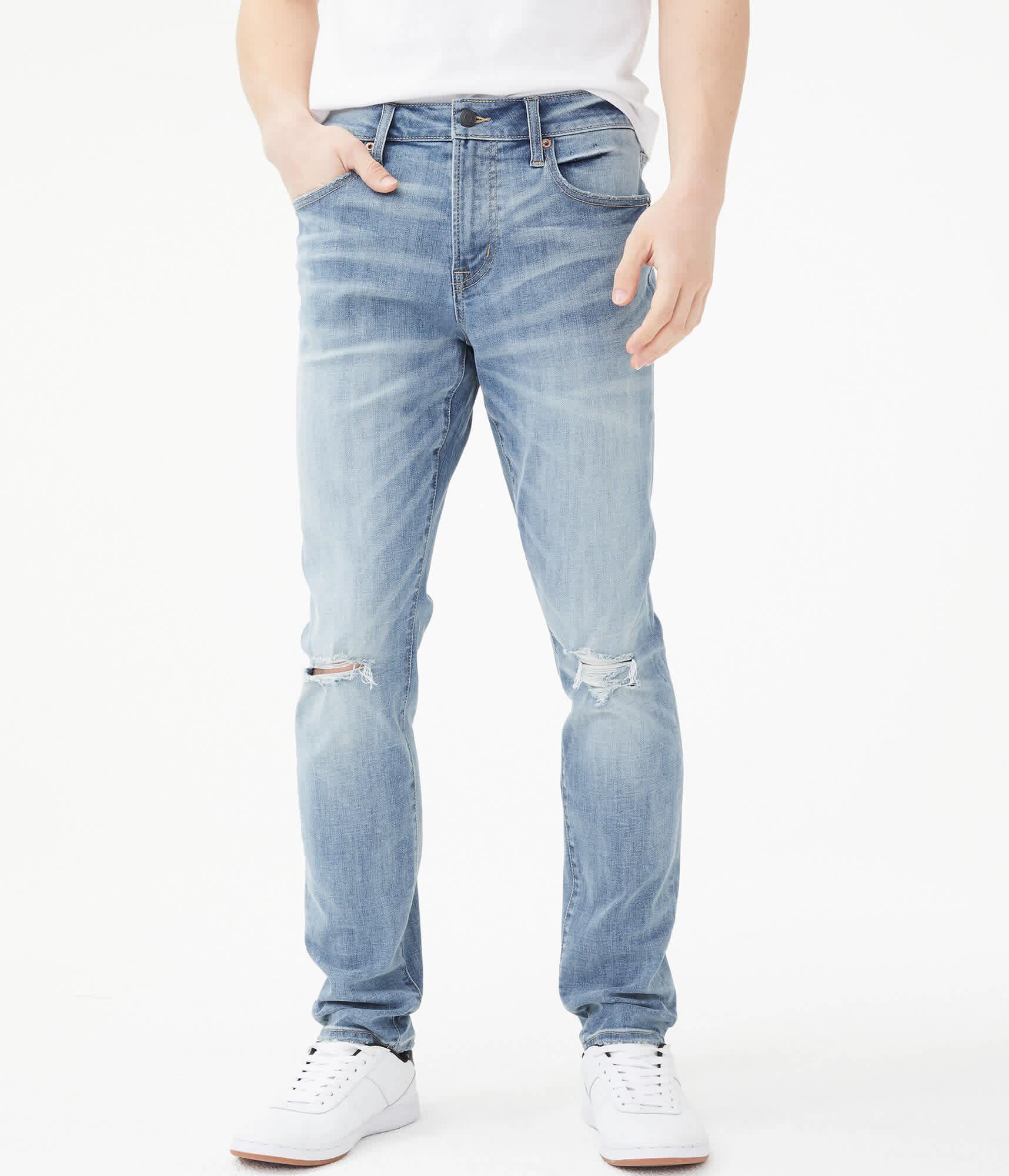 Aeropostale Men's Premium Max Stretch Super Skinny Jeans