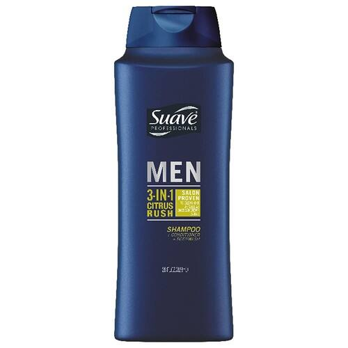 28oz Suave Men 3-in-1 Shampoo Conditioner Body Wash (Citrus Rush)
