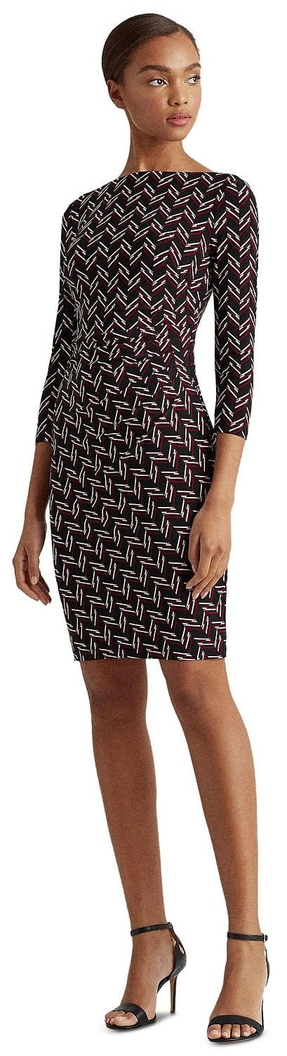 Lauren Ralph Lauren Women's Ruched Matte Jersey Dress