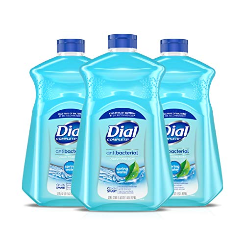 Dial Antibacterial Liquid Hand Soap Refill, Spring Water, 52 Fluid oz (Pack of 3)