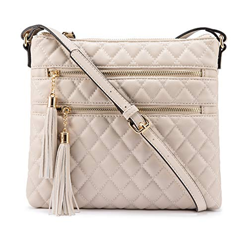 Soft Unique Quilted Crossbody Purse with Double Tassels 2020 ( 7 colors )