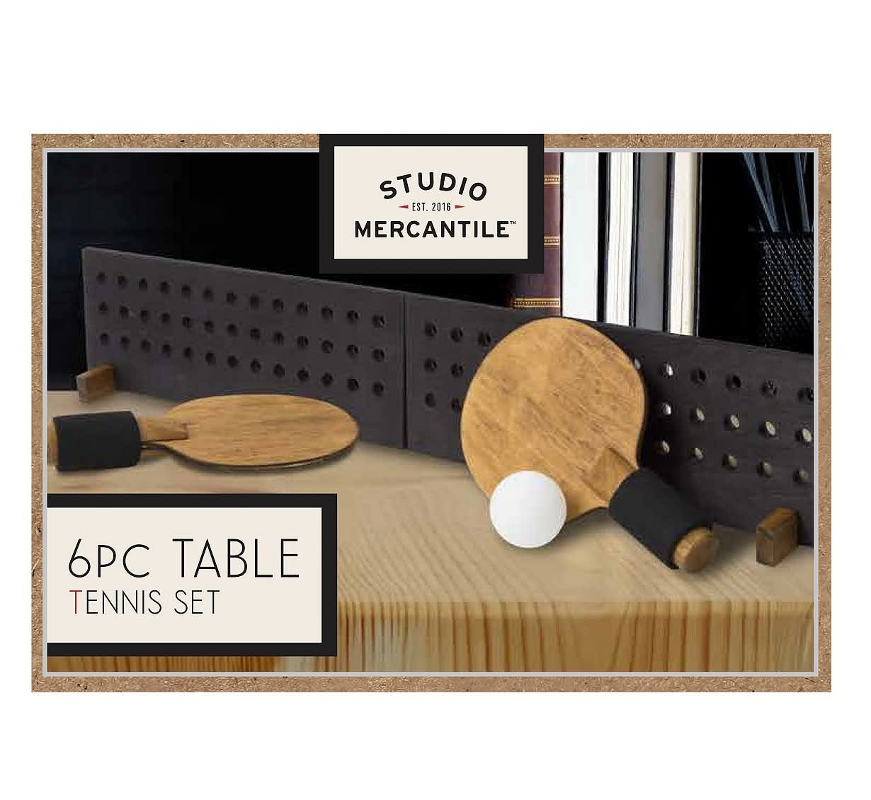 Studio Mercantile 6-Piece Wood Table Tennis Set