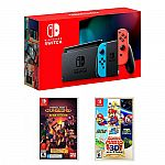 Nintendo Switch 32GB Console + Minecraft Dungeons + Super Mario 3D All-Stars