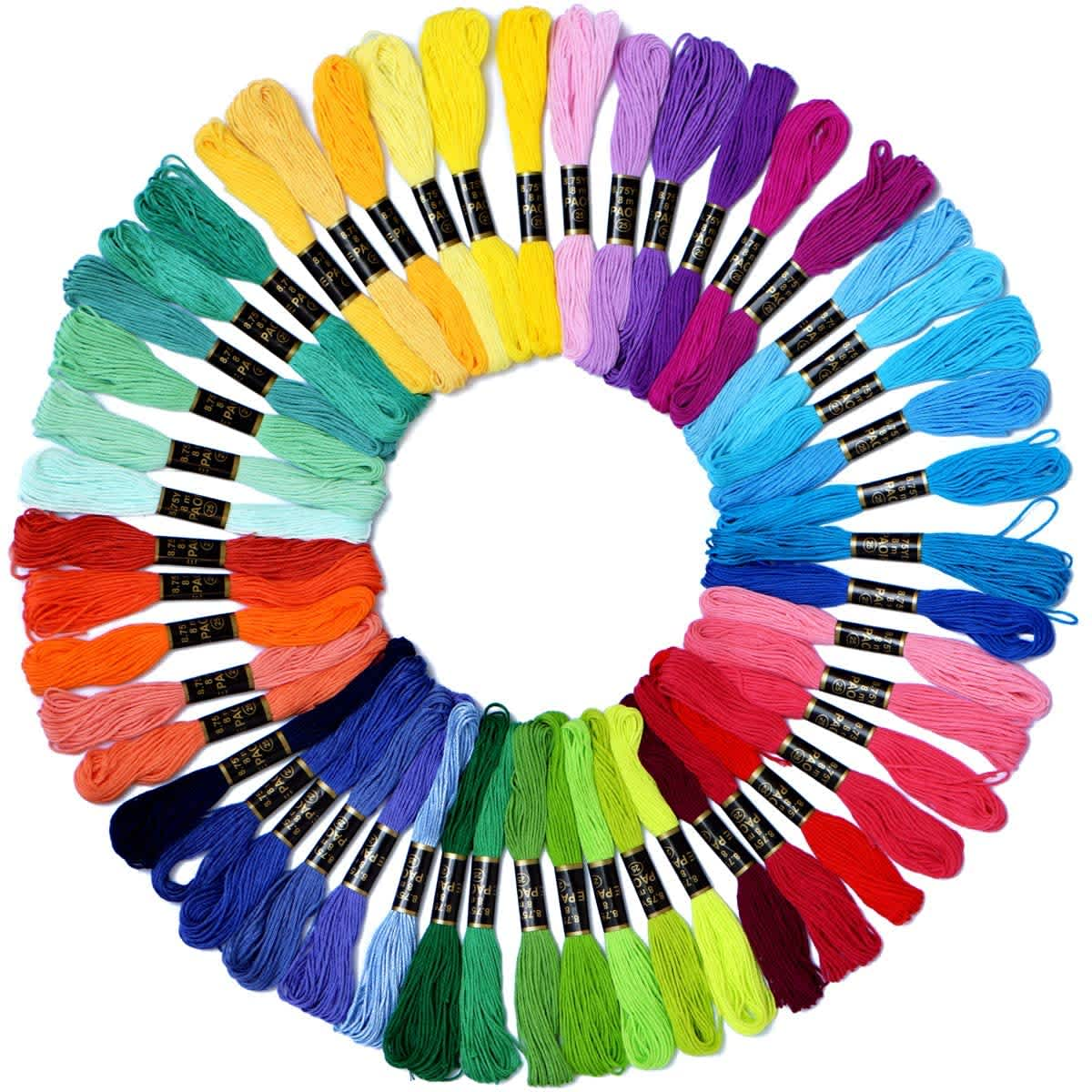 Le Paon Embroidery Floss Skeins 50-Pack