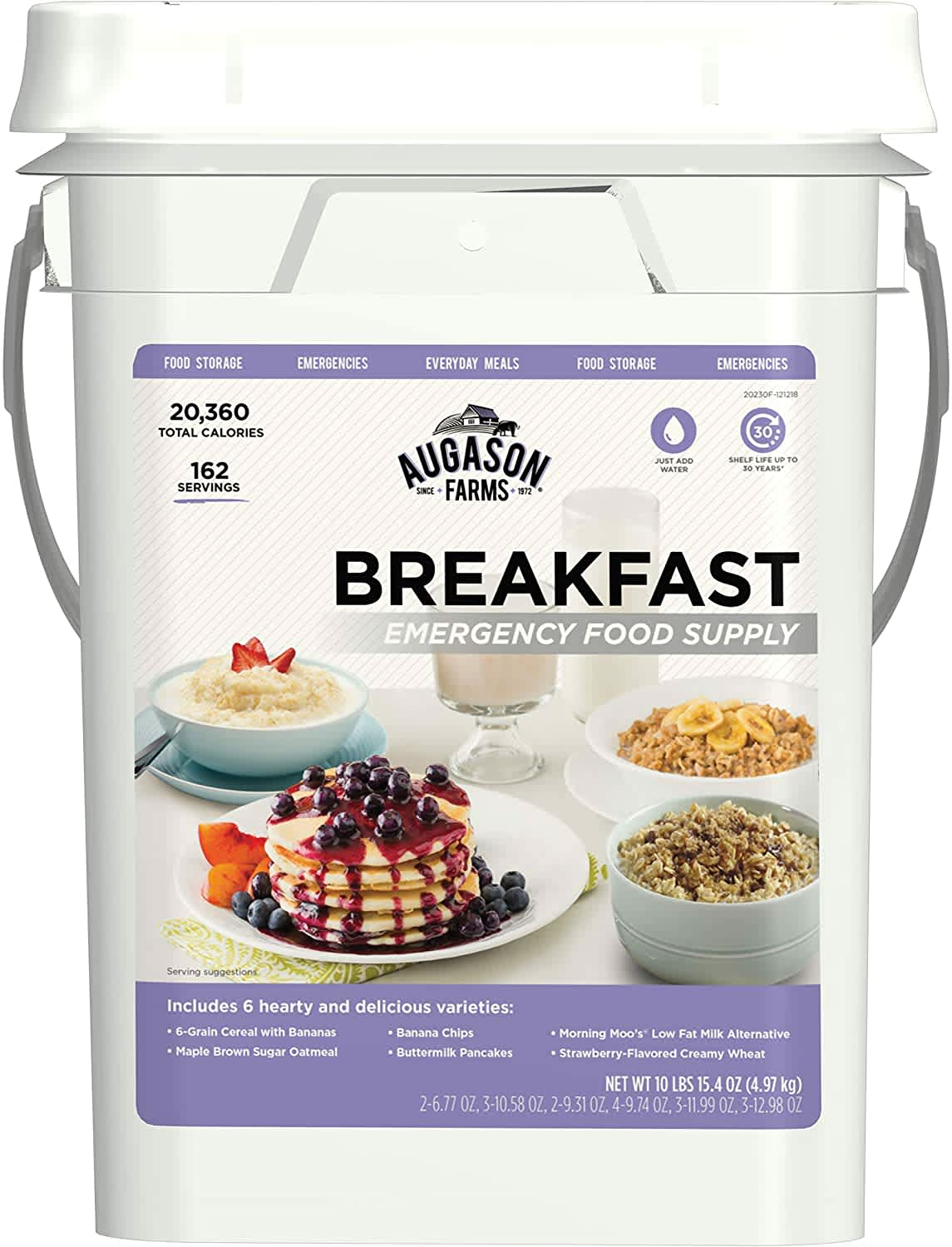 Augason Farms Breakfast Emergency Food Supply 4-Gallon Pail